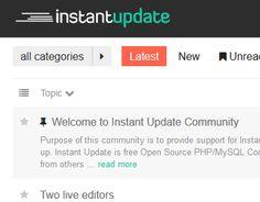 instant update transforme vos pages html en cms en quelques secondes