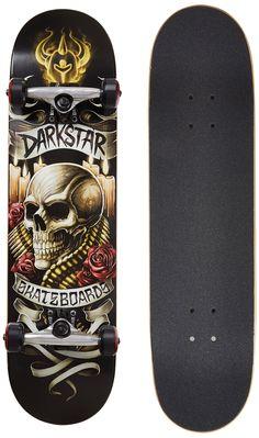 Dark Star 10512170 Shrine Ful 8.0 Burnt Umber Complete Skateboard. 7 Ply Hard Rock Maple with our exclusive Stiff Glue Extra. 5.0 T5 Aluminum Dark star trucks with good turning radius. 92A bushings, softer bushing allowing for all weight and size skaters. Abec 1 carbon steel speed bearings. New and improved urethane formula; 95A Durometer wheels are perfect hardness, suitable for both street and park skating.