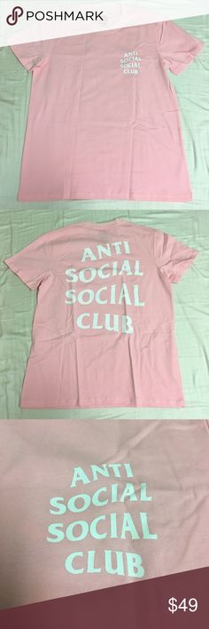 ASSC Pink Tee Shirt Brand new, never worn. Medium. Feel free to leave an offer or a comment! All offers are considered! Each product is wrapped, packed, and shipped on the same day, unless post office is closed. In that case, I will ship next avaliable day. Anti Social Social Club Shirts Tees - Short Sleeve