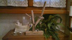 Portagioie in legno spiaggiato naturale, bigiotteria in ordine, display gioielli, oggettistica bagno e guardaroba, espositore per gioielli di Engardina su Etsy