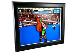 Punch-Out NES Little Mac's Victory Shadow Box by Decor8bitArt