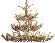 3 tier natural shed antler chandelier < gorgeous