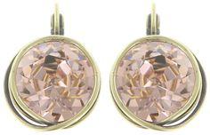 Ohrring EuroWire Sparkle Twist beige / pink