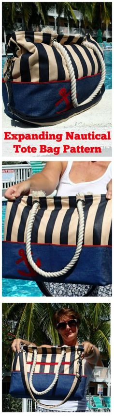 I love how this fun beach bag has expanding sides. Keeps the bag neat when you don't carry much, but expands to carry all the kids stuff to the beach when you need it too.