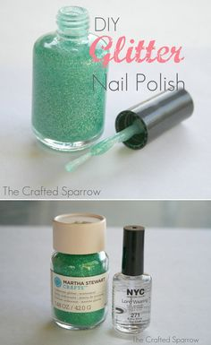 DIY Glitter Polish?? Has anyone tried this? #gliterpolish #polish #DIYpolish #polishtutorial #thecraftedsparrow - bellashoot.com
