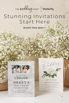 Whether you're inspired by classic florals, warm tones and textures, sophisticated elements or clean modern lines, our wide assortment of wedding invitations are sure to showcase your style. Guests will love the attention to detail and you'll love having a wedding invite you'll hold on to forever. You can make any design your own with our full suite of personalization options. Personalised Wedding Invitations, Wedding Invitation Design, Wedding Stationery, Wedding Planner, Wedding Cards, Wedding Stuff, Wedding Ideas, Viking Wedding, Rustic Wedding