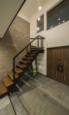 S様邸 NERIMA Japanese Modern, Nerima, Cozy House, Entrance, Entryway, Stairs, Loft, Interior Design, Architecture