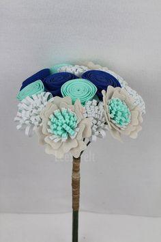 20 Off Promotion Handmade Wedding Bouquet  Wedding by LeeSFelt, $35.40