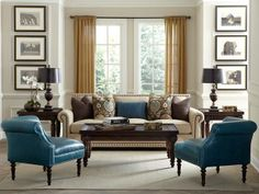 Transitional Living-rooms from Havertys on HGTV