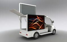 Yes-M5 advertising vehicles adopts a chassis on 4 wheels scooter configured with P4 high definition LED screen, flexible to move and make full scale display as well as extremely high value for money. Three sides can be LED screens as customer's requirements. For more information of this great invention for Business enhancement, kindly email us at info@holoteqatar.com