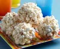 really easy popcorn balls, I use an air popper to make LARGE quantities!