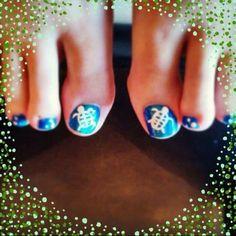Sea Turtle nails Pedicure Designs, Toe Nail Designs, Pretty Toes, Pretty Nails, Turtle Nails, Vacation Nails, Cute Nail Art, Mani Pedi, Toe Nails