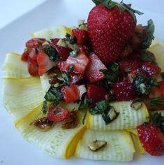 Strawberry Pesto (Gluten Free Vegan)