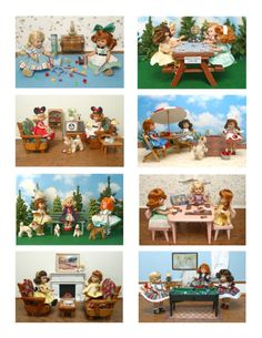 Vintage Ginny Doll 'Fun and Games' Greeting Cards