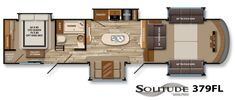 Solitude Fifth-Wheel Floor Plans | Grand Design RV Something different to consider.