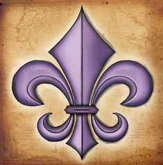 Fleur De Lis - this would make a pretty tattoo Yin Yang, Pre Weding, Wood Burning Patterns, Pretty Tattoos, Paint Party, Future Tattoos, Illustrations, Shades Of Purple, Arts And Crafts