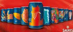 In Portugal konnte man 2015 Dosenbier der Marke Sagres mit Werken der renommierten, einheimischen Künstlerin Joana Vasconcelos kaufen. Auf 10 Dosen wurde jeweils eine Region Portugals künstlerisch verewigt #artdrinks Ladybug, Drinks, Beer