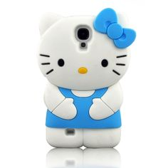 Blue 3D Cute Soft Silicone Cat Samsung Galaxy S4 SIV i9500 Case Samsung Galaxy S4 Cases, Iphone Cases, Hello Kitty, Kitty Kitty, Note 3 Case, Gadgets And Gizmos, Tech Accessories, Galaxies, Random Things