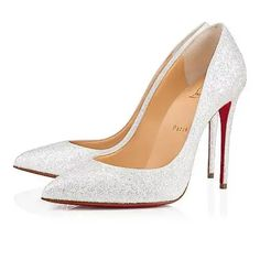 4ebd5d7ff540 Christian Louboutin United States Official Online Boutique - Pigalle  Follies 100 White Glitter Givre available online. Discover more Women Shoes  by ...
