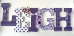 Baby Nursery Wall Letters Purple Princess Theme by LetterLuxe