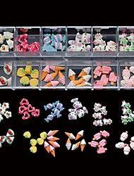 60PCS 12 Styles Mix Resin Candy Lovely DIY Nail A... – USD $ 4.99