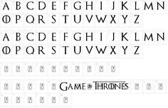 Characters: Game of Thrones Font