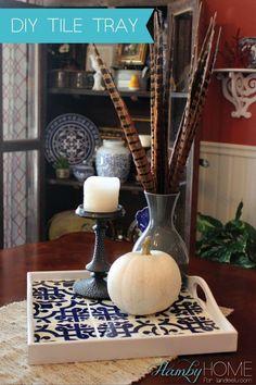 DIY Tile Tray | Hamby Home for landeelu.com