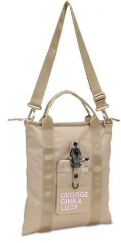 George Gina & Lucy Tragetasche GGL beige rose XT3ND3D abnehmbarer Karabiner Nylons, George Gina Lucy, Diaper Bag, Bags, Pink, Tote Bag, Handbags, Diaper Bags, Mothers Bag