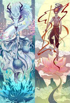 Manga Art, Anime Manga, Anime Love, Anime Guys, Chinese Cartoon, Ghibli Movies, Arte Popular, Anime Demon, Fantasy Creatures