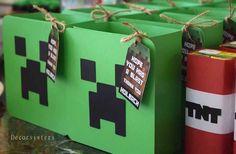 Creeper Favor Boxes from a Minecraft Birthday Party via Kara's Party Ideas | KarasPartyIdeas.com (10)