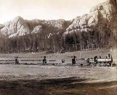 Train Bound for Custer City, South Dakota
