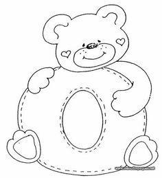 Risultati immagini per moldes del abecedario infantil Alphabet Templates, Applique Templates, Applique Patterns, Quilt Patterns, Colouring Pics, Coloring Books, Printable Coloring Pages, Coloring Pages For Kids, Embroidery Alphabet