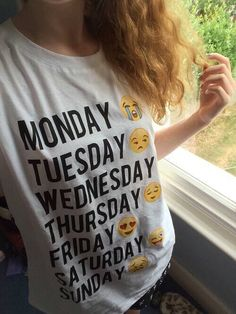 This weekday emoji shirt please