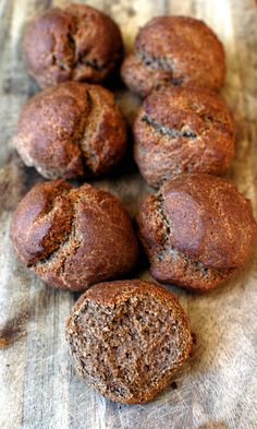 Gluten Free Rolls:  Almond flour, teff, buckwheat....dense, great flavor, perfect with a bowl of soup.  Try adding caraway seeds for a 'rye'-like bread.