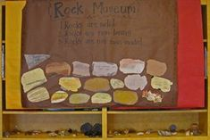 Rock-museum (this kindergarten teacher  has well thought out activities for her science units)