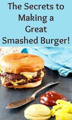 If you like the juiciness of a big fat burger, a smashed burger might not be for you, but if you like the crispy, outside crunchiness of a fast food burger, you'll want to learn how to smash a burger Homemade Cheeseburgers, Homemade Burgers, Cheese Burger, Best Burger Recipe, Smash Burger Sauce Recipe, Great Burger Recipes, Fat Burger, Beyond Meat Burger, Grilling Recipes