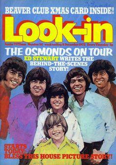 The Osmonds ~ Look-in Mag