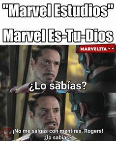 Read Acaso no lo viste venir?No me salgas con mentiras rogers! from the story Memes marvel by sofi_alvii (Sofi🌙) with 527 reads. Mundo Marvel, Marvel Vs, Marvel Comics, New Memes, Funny Memes, Hilarious, Movie Memes, Avengers Memes, Marvel Memes