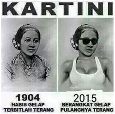 Slogan Kartini 1904 dan 2015 - #Meme - http://www.indomeme.com/meme/slogan-kartini-1904-dan-2015/