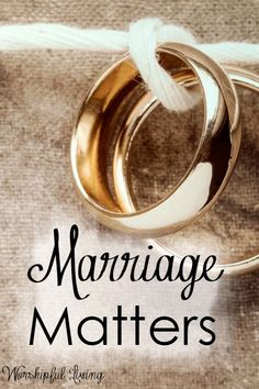 Does marriage matter? What it looks like, how we engage in marriage? Is marriage a contract or a covenant? Does marriage matter to God? Let's get the answers!