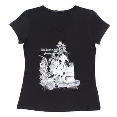 Camiseta Feminina Clássica Preta - Tassa Gold 16123