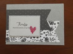 #CTMH #ThankYou #Card #Homemade I can help you make homemade cards fast and easy...ask me how!