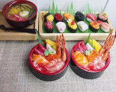 Miniature Food  Chirashi DOn by FunWithARtz on Etsy, $20.20