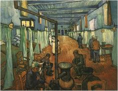 Ward in the Hospital in Arles Vincent van Gogh Painting, Oil on Canvas Arles: April, 1889