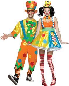 Disfraces de payaso para pareja. Disponibles en www.vegaoo.es