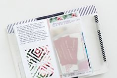 Vellum pocket for tickets in Travelers Notebook