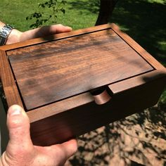 Today's walnut heirloom box a petite 6 x and on its way to Myanmar (Burma.) It will be used on a bedside table. Small Wooden Boxes, Wooden Jewelry Boxes, Wood Boxes, Wooden Box Plans, Woodworking Box, Woodworking Projects Plans, Custom Woodworking, Wood Box Design, Jewelry Box Plans