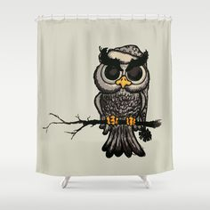 Angry owl Shower Curtain by Mangulica | Society6 - - FREE Shipping Today (6th Sept 15)!