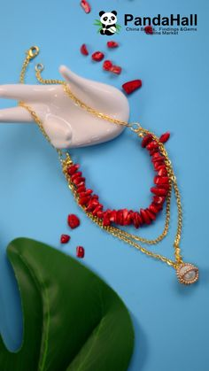Red Gemstone Beads Necklace with Pearl, Diy Abschnitt, Diy Jewelry Necklace, Seed Bead Jewelry, Beaded Jewelry, Beaded Necklace, Gemstone Necklace, Bijoux Design, Schmuck Design, Jewelry Design, Bracelet Crafts