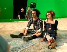 Behind the scenes of Sweeney Todd.